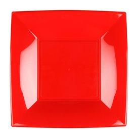 Prato Plastico Raso Vermelho Nice PP 180mm (25 Uds)