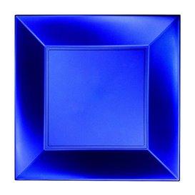Prato Plastico Raso Azul Nice Pearl PP 230mm(300 Uds)
