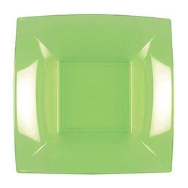 Prato Plastico Fundo Verde Limão Nice PP 180mm (25 Uds)