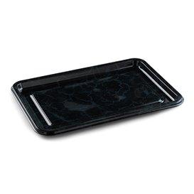 Bandeja Plastico Luxo Retang. Marmore 35x24cm (50 Uds)