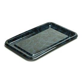 Bandeja Plastico Luxo Retang. Marmore 55x37cm (50 Uds)
