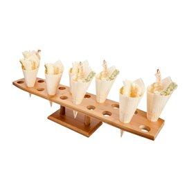 Stand de Bambu para 20 Cones (8 Uds)