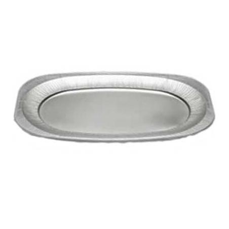 Bandeja Ovalada de Aluminio 2150ml  (Caja 25 Uds)