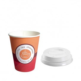 "Vaso Carton ""Coffe Time"" 6oz/180ml + Tapa (Pack 2.000Uds)"