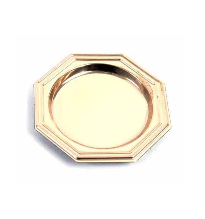 Prato Plastico Octg. Degustação Ouro 8cm (1000 Uds)