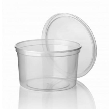 Embalagens  Redondo PP Transparente 500ml (50 Unidades)