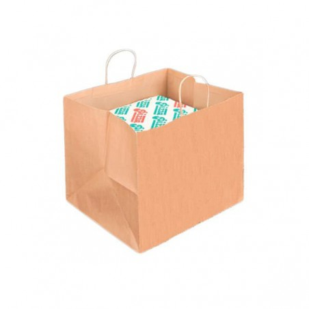 Saco Papel Caixa Pizza Asas 80g 37+33x32cm (50 Uds)