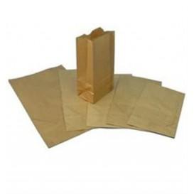 Bolsa de Papel Sin Asas Kraft Marron 12+8x24cm (50 Uds)