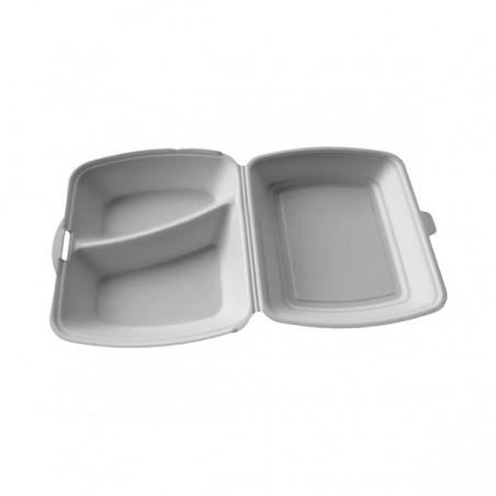 Embalagem Foam PortaMenus 2 Compartimiento (100 Uds)