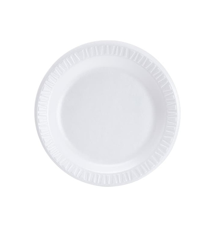 Prato Isopor Branco 230 mm (500 Unidades)