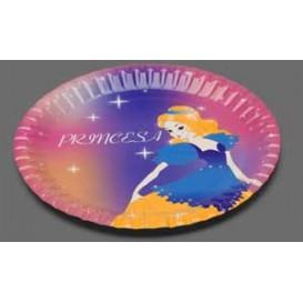 Prato Cartão Disenho Princesa 18 cm (504 Unidades)