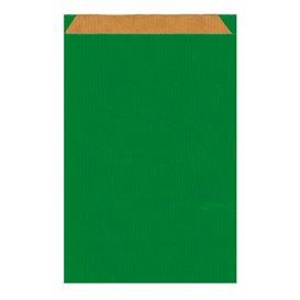 Saco de Papel Kraft Verde 26+9x38cm (125 Unidades)