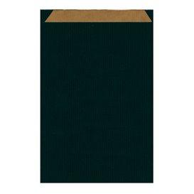Saco de Papel Kraft Negro 26+9x38cm (125 Unidades)