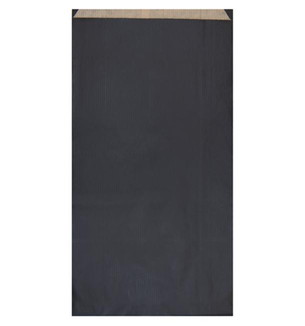 Saco de Papel Kraft Negro 19+8x35cm (750 Unidades)