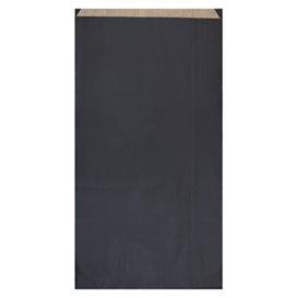 Saco de Papel Kraft Negro 19+8x35cm (125 Unidades)