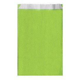 Saco de Papel Verde Anis 26+9x46cm (750 Unidades)