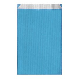 Saco de Papel Turquesa 12+5x18cm (125 Unidades)