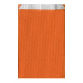 Saco de Papel Laranja 12+5x18cm (125 Unidades)