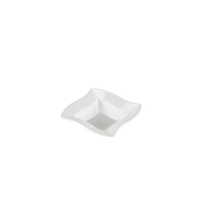 """Tigela Plastico Quadrada """"Ondas"""" Branco 18x18cm (360 Uds)"""