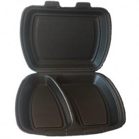 Embalagem Foam PortaMenus 2 Comp. Preto (250 Uds)