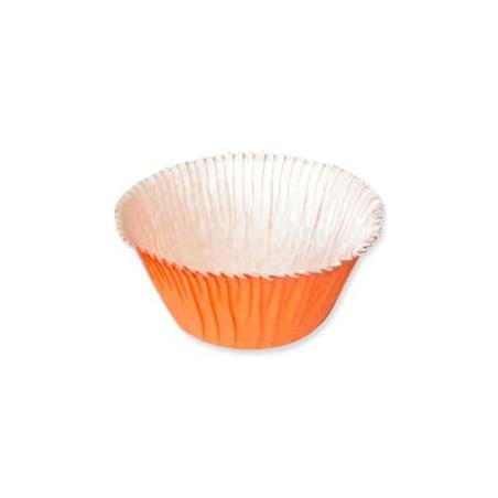 Cápsulas para Cupcakes Naranja  4,9x3,8x7,5cm. (80 Unidades)