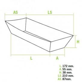 Barqueta Hot Dog 17,0x5,5x3,8cm (1.000 Unidades)