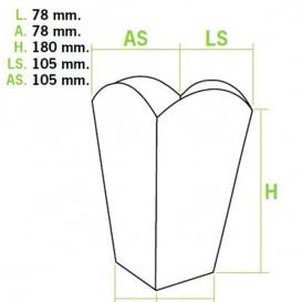 Caixa Pipocas Mediana 90gr 7,8x10,5x18cm (350 Uds)