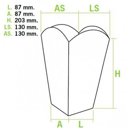 Caixa Pipocas Grande 150gr 8,7x13x20,3cm (250 Uds)