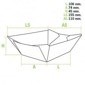 Barqueta Cartolina 10,6x7,3x4,5cm 350ml (1000 Uds)