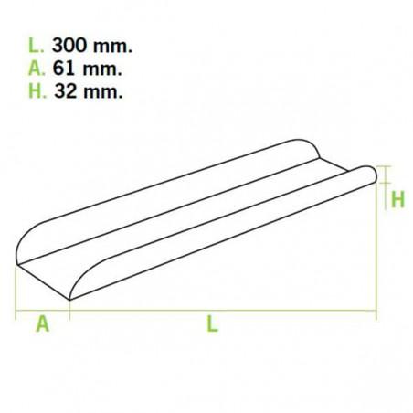 Bandeja para Sandes Kraft 30x6,1x3,2cm (25 Uds)