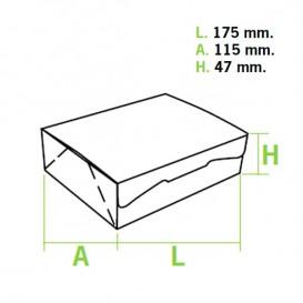Caixa Pastelaria Branca 17,5x11,5x4,7cm 250g (20 Uds)