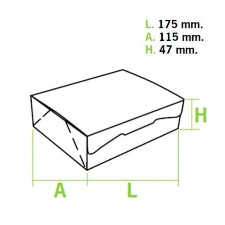 Caixa Pastelaria Branca 17,5x11,5x4,7cm 250g (360 Uds)
