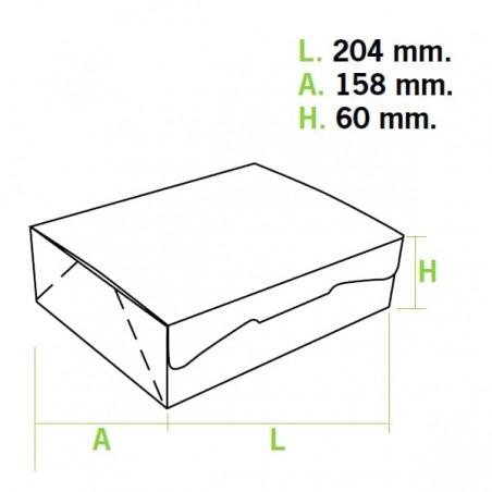Caixa Pastelaria Rosa 20,4x15,8x6cm 1kg (200 Uds)