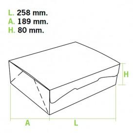 Caixa Pastelaria Branca 25,8x18,9x8cm 2kg (5 Uds)