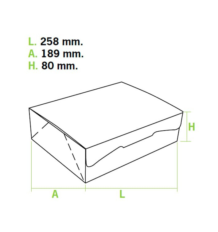 Caixa Pastelaria Rosa 25,8x18,9x8cm 2kg (25 Uds)