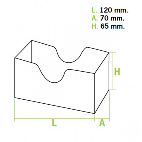Embalagem Cartao Sanduíche Kraft (1000 Unidades)