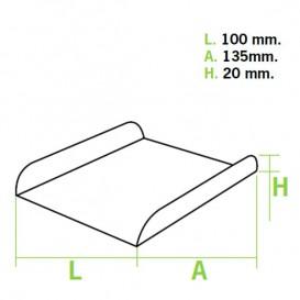Bandeja Porta Waffle Branco 13,5x10x1,8 cm (100 Uds)