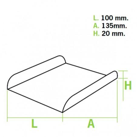 Bandeja Porta Gofre Branco 13,5x10x1,8 cm (25 Uds)