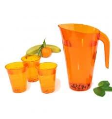 Jarro de Plástico Laranja 1500 ml (20 Uds)