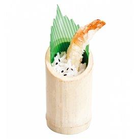 Copo de Bambu Degustaçâo Truncado 5x9cm (10 Uds)