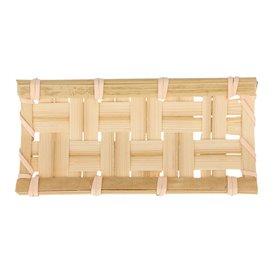 """Bandeja de Bambu """"Trençado"""" 10,5x5cm (24 Uds)"""