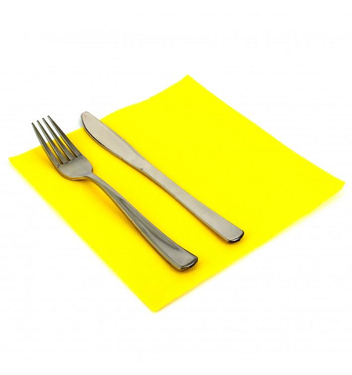 Guardanapos de Papel 40x40cm Amarelo (50 Udss)