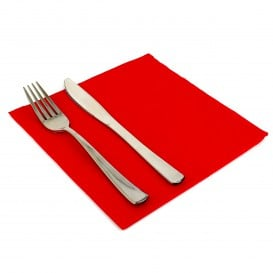Guardanapos de Papel 40x40cm Vermelho (1.200 Uds)