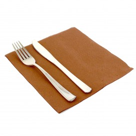 Guardanapos de Papel 40x40cm Marron (50 Uds)