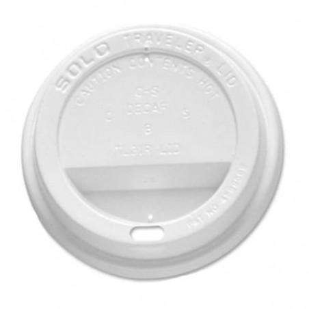 Tampa Perfurada Copo Branco 10 Oz/300 ml (100 Uds)