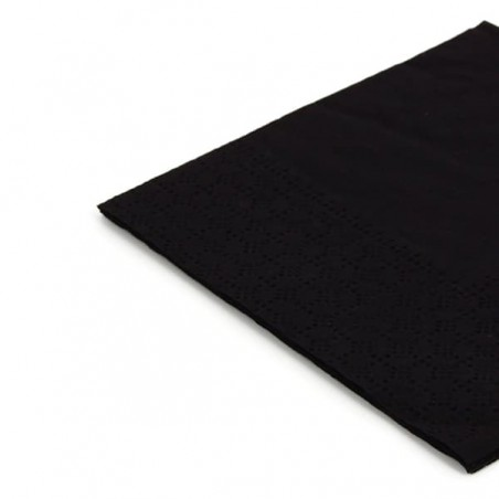 Guardanapos Papel Cocktail Preto 20x20cm (100 Uds)