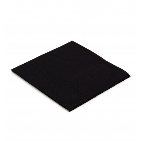 Guardanapos Papel Cocktail Preto 20x20cm (3000 Uds)