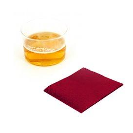 Guardanapos Papel Cocktail Bordeaux 20x20cm (100 Uds)