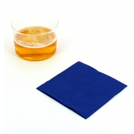 Guardanapos Papel Cocktail Azul 20x20cm (100 Uds)