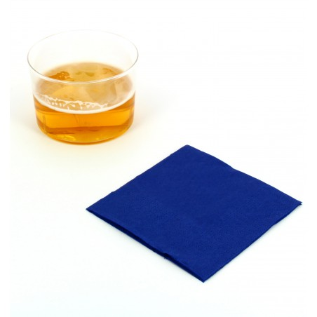 Guardanapos Papel Cocktail Azul 20x20cm (100 Uds)